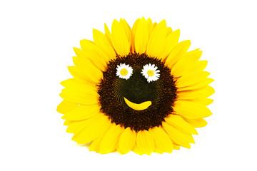 Sonnenblume mit Smiley