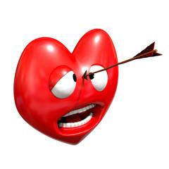 Coeur avec flèche 3d