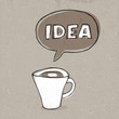 Cup of idea. Concept illustration, vector, EPS10
