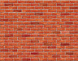 Red brick wall seamless Vector illustration background. - 43686826