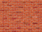 Fototapety Red brick wall seamless Vector illustration background.