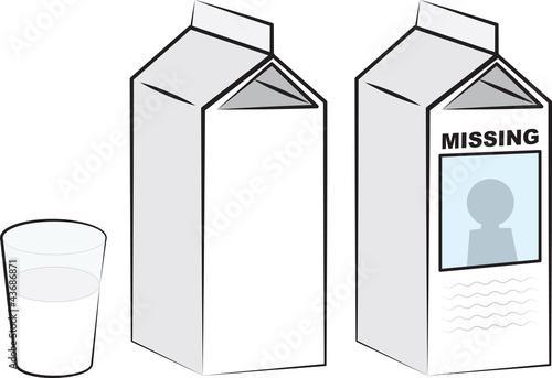 Milk cartons and glass of milk - 43686871