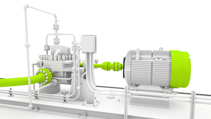 Industrial engine and power generator design