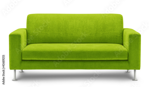 Leinwandbild Motiv sofa furniture isolated on white background