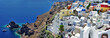 Santorini - panoramic view with caldera