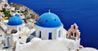 white-blue Santorini, colors of Greece series