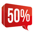 Red Speech Bubble - 50%