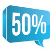 Blue Speech Bubble - 50%