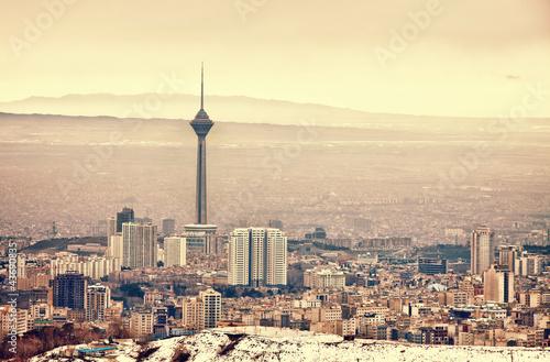 Fotobehang Midden Oosten Tehran Skyline