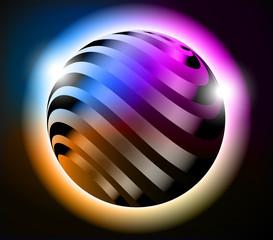 Cornice sfera metallo