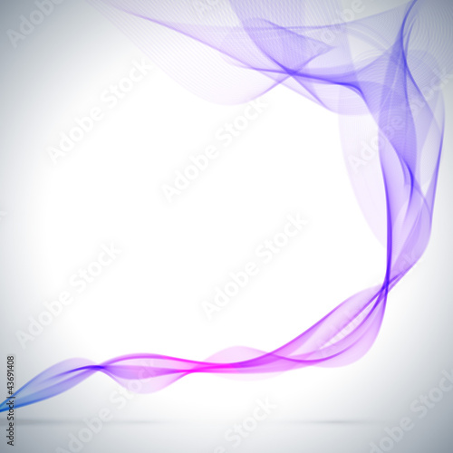 Abstract blue colored smoke vector background.