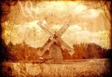 old sepia windmill - 43691807