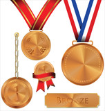 Vector illustration of bronze medal
