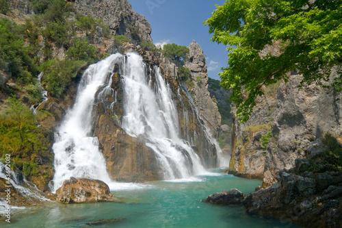 Fototapeten,wasserfall,türkei,berg,landschaft