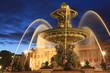Fototapeten,place de la concorde,springbrunnen,paris,nacht