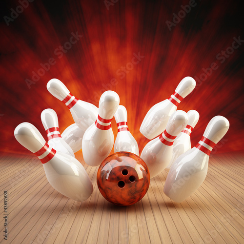 Bowling Strike rot/orange - 43692689