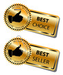 BEST CHOICE and BEST SELLER stickers-vector
