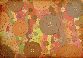background with fabric patterns and buttons