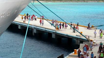 Cozumel Tourists Time Lapse