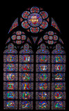 Notre Dame of Paris Stained Glass Window