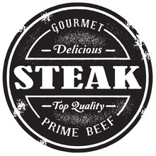 Vintage Style Beef Steak Stamp