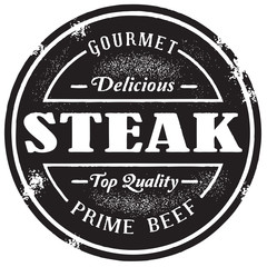 Vintage Style Steak Beef Stamp