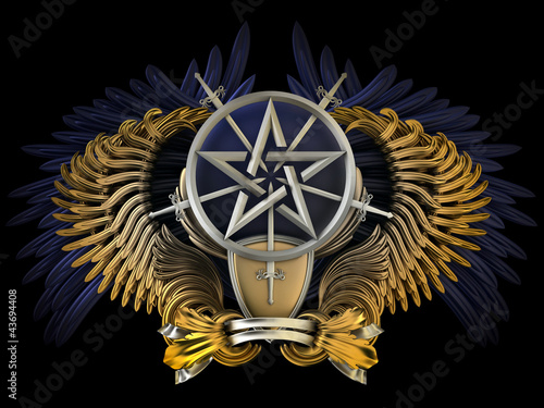 Coat of arms - wings with pentagram
