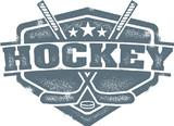Fototapety Vintage Hockey Crest
