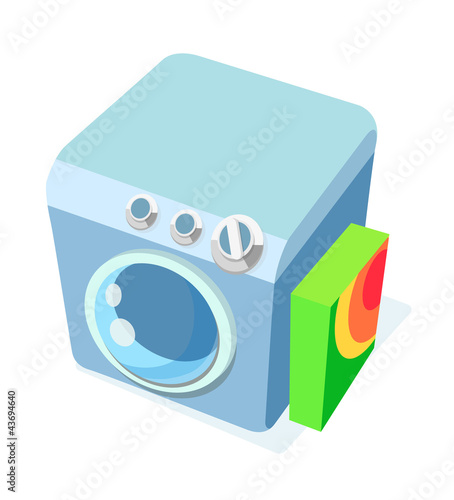 vector icon washing machine