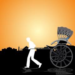 Rickshaw and cart