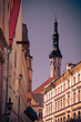 The medieval street in Old Tallinn