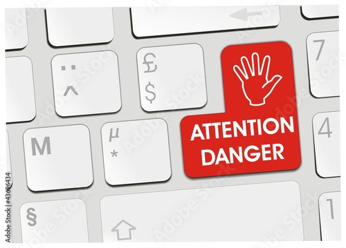 clavier attention danger
