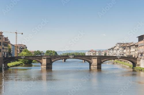 Foto op Canvas Praag The Ponte alla Carraia bridge in Florence, Italy.