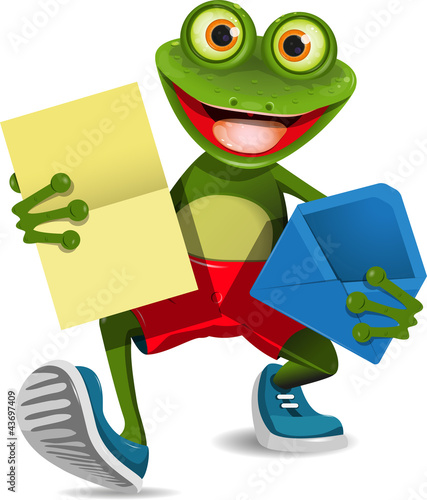 Frog with a letter
