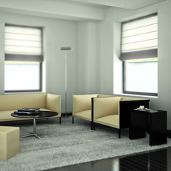 Modern designed studio (focused)