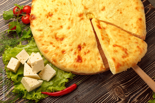 Ossetian Feta Cheese Pie.