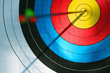 canvas print picture - Bulls eye (archery)