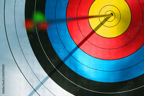 canvas print picture Bulls eye (archery)