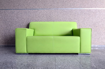 leather sofa in front of wall