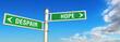 signpost despair or hope