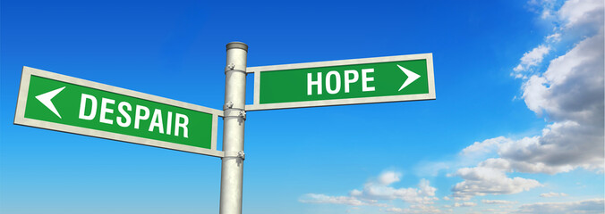 signpost despair or hope