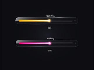Glass loading bar. Vector