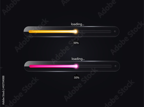 Glass loading bar. Vector