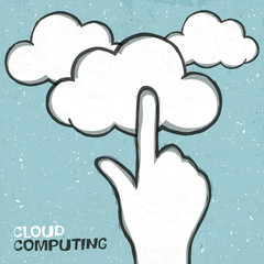 Cloud computing concept illustration, EPS10