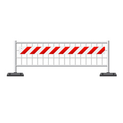 Construction barricade barrier