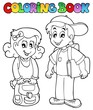 Coloring book school topic 3