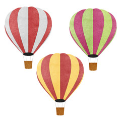Balloon recycled papercraft background