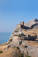 Ruins of The Genoa Fortress in Sudak, Crimea. Ukraine