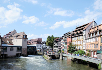 Panoramic view of Petit France district in Strasbourg