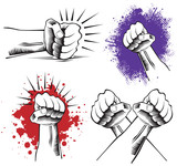 illustration of a punching fist